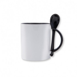 TAZA SUBLIMACINO SPOON NEGRO