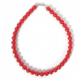 COLLAR CRISTAL GLASS ROJO